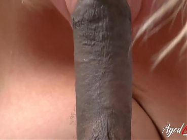 AgedLovE Hardcore BBC in Tight Mature Blonde