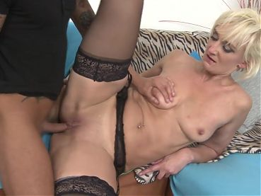 Taboo sex with mature moms and young studs