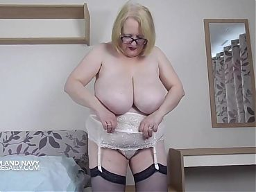 Cream bra and panties