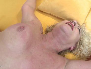 Hungry grandmother seduce young stupid boy