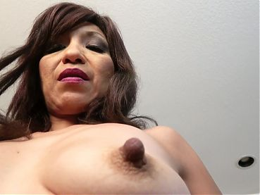 Sensitive big nipples on an American MILF