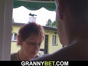 70 yo granny rides neighbour's big dick