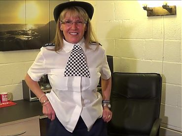 Full Back Knicker's  Police Woman Strip pt:1