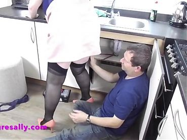Sally pays the plumber in kind