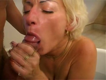 Mature Woman Takes Bath With Young Stud