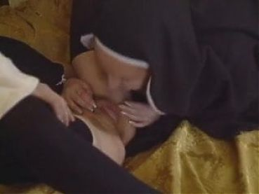 Mother Superior Prisca Nell initiates young nun