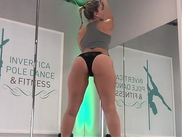 #2  Milf Caroline Sexy Poledance in thong and heels