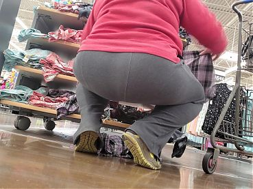 Grey Sweats Ass with a Big Squat