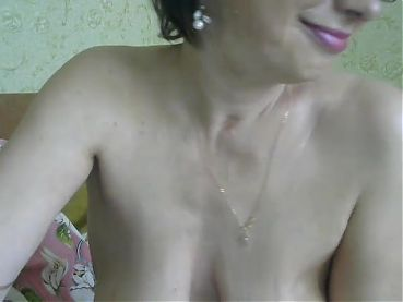 Mature with glasses on cam