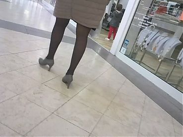 Sexy legs mature nice heels and pantyhose