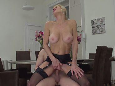 Posh mom Molly Maracas suck and fuck young son